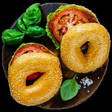Tomato-Basil-Bagel